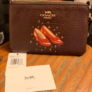 Coach Bags - NEW Coach Wizard Of Oz Ruby Slippers Wristlet